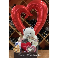 Foto Cesta de Chocolate Delights Sparkling Love
